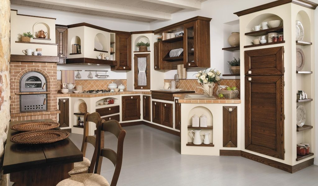 Cucina in finta muratura – Gruppo Pé Arreda